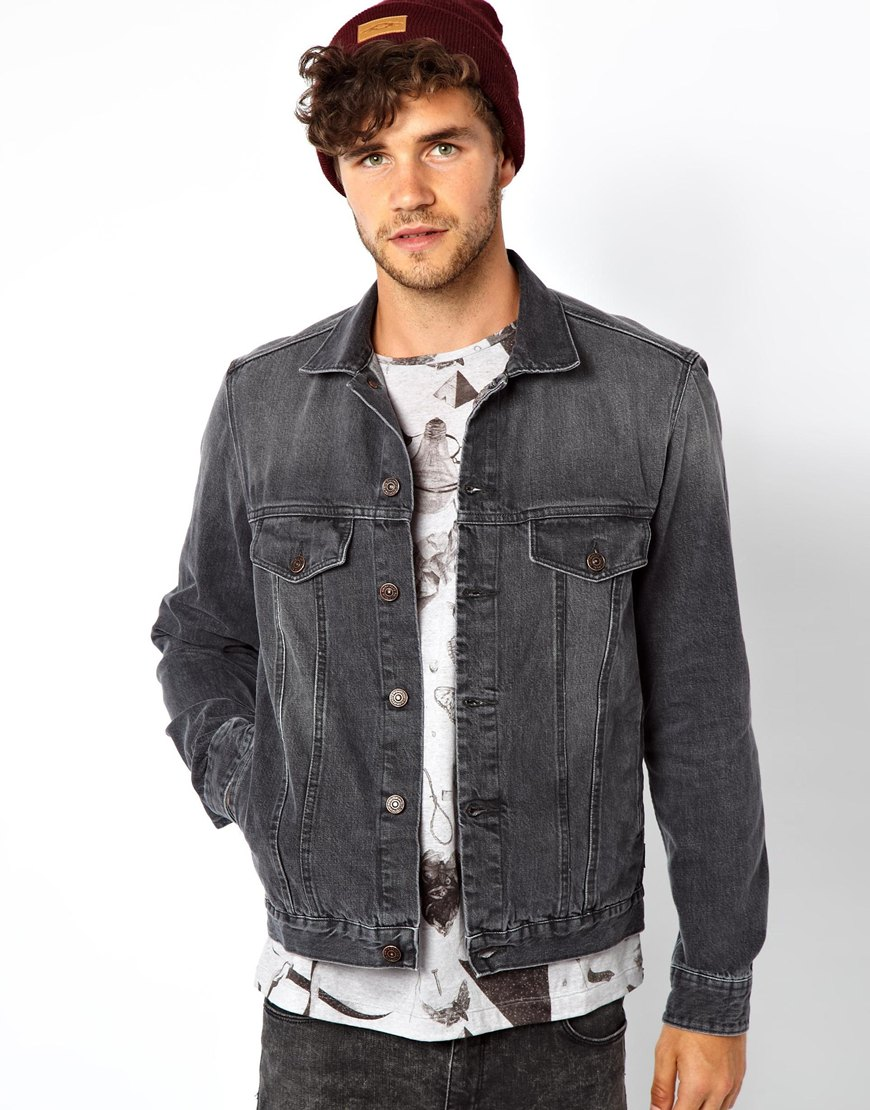 Paul smith Denim Jacket in Gray for Men | Lyst