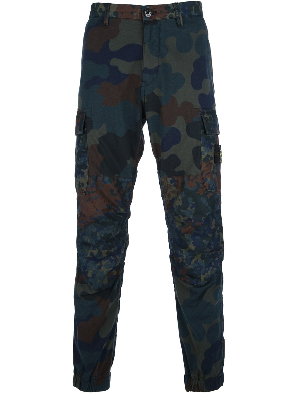 Lyst Stone Island Tapered Camouflage Trouser In Blue For Men