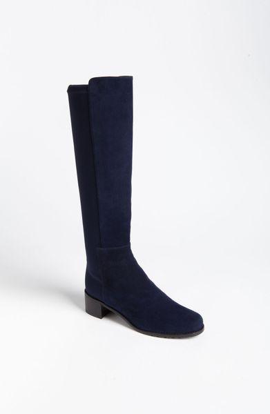 stuart weitzman setaside boot in blue blue suede lyst
