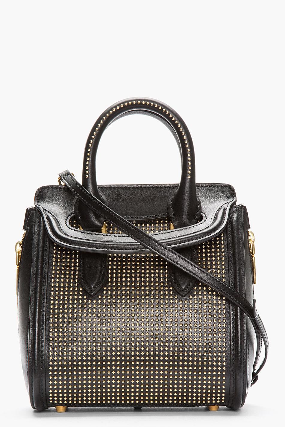 Alexander McQueen Small Leather Bucket Bag - shop-msmart.com