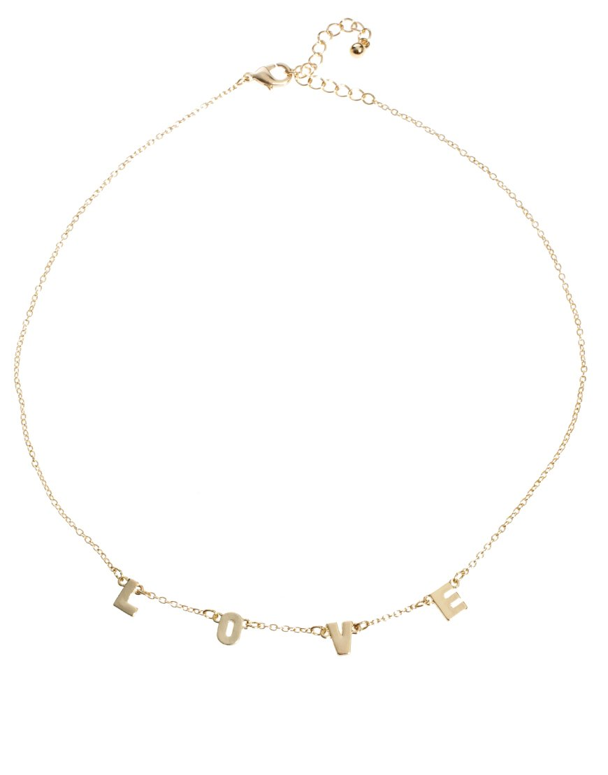 Paul Smith Asos Love Letter Charm Necklace in Metallic   Lyst