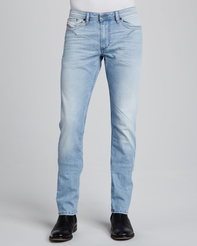 34da10c53d DIESEL Shoiner Super Light Wash Slimfit Skinny Jeans in Blue for Men ...