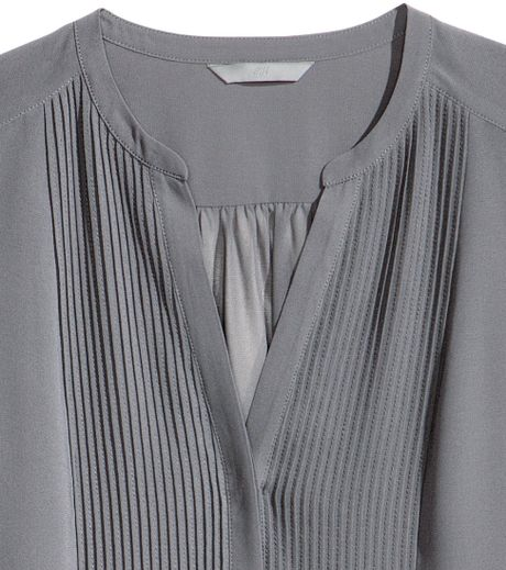 H And M Grey Blouse 65