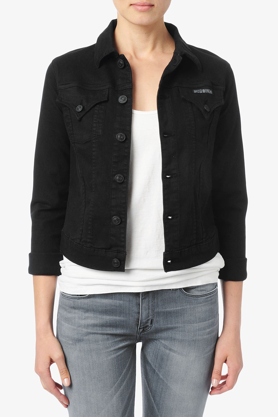 Buy womens black denim jacket – Modern fashion jacket photo blog