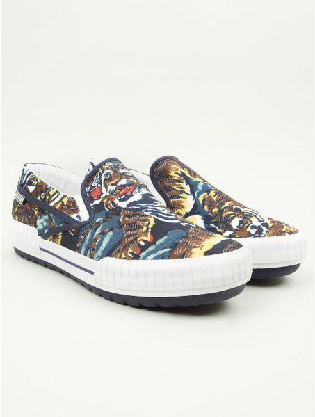 Kenzo Mens Flying Tiger Hevyn Sneakers in Multicolor for Men  tiger Kenzo Flying Tiger Shoes