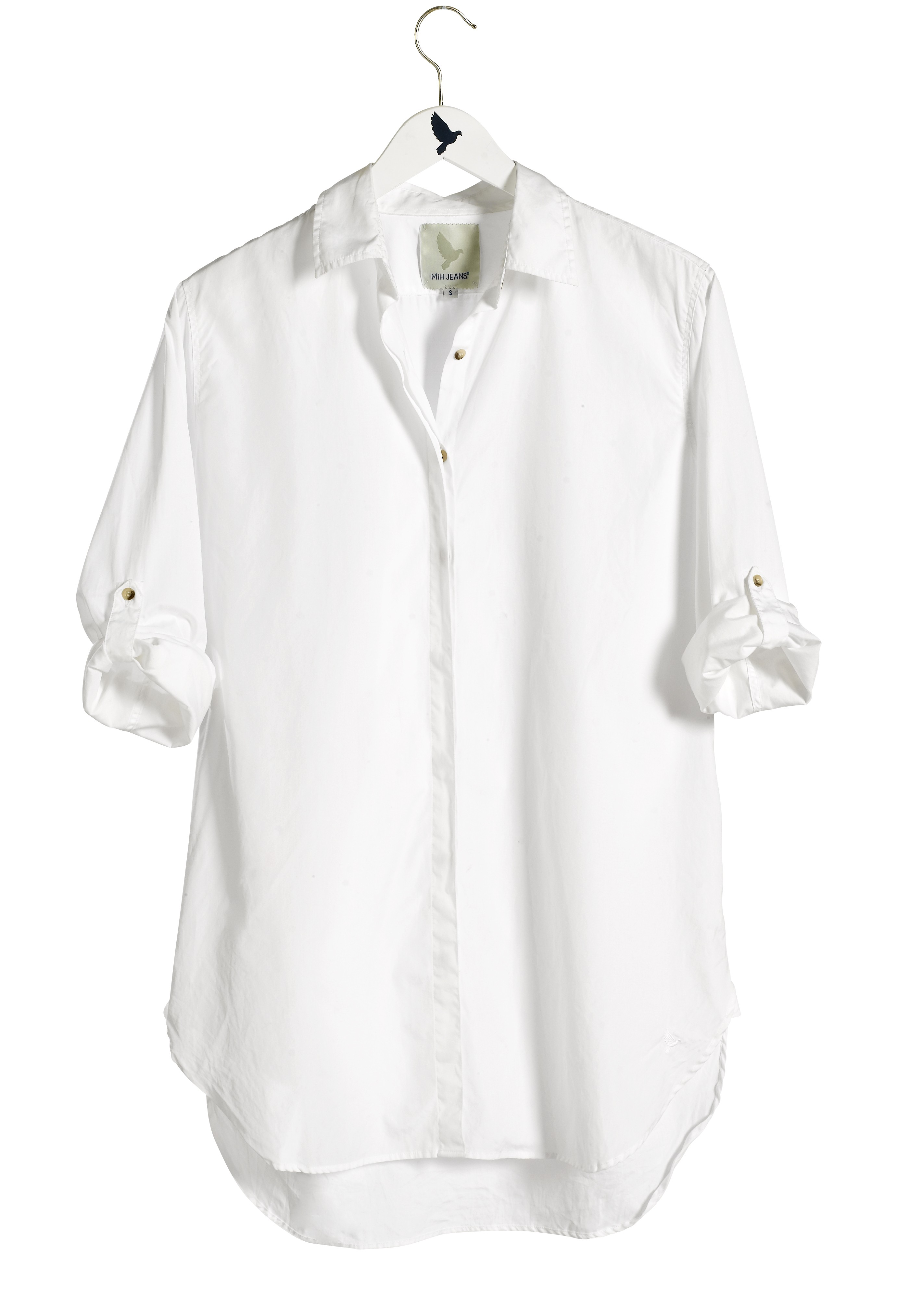 M i h jeans oversize shirt in white polo white lyst for H m polo shirt womens