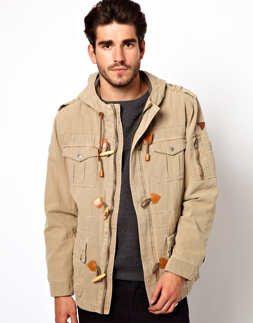 Asos Parka Jacket Legend Hooded in Natural for Men | Lyst
