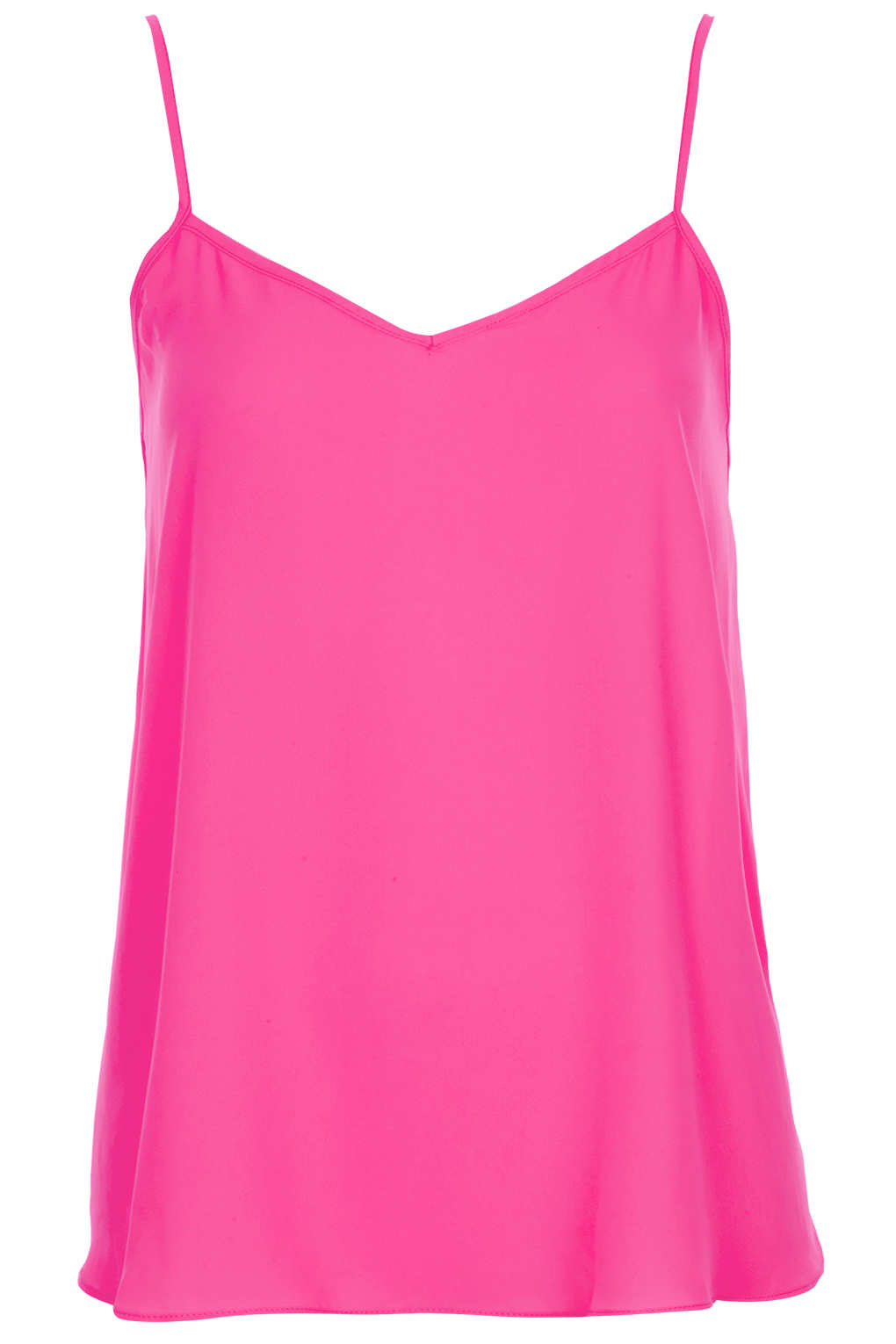 Lyst Topshop Strappy Vneck Cami In Pink