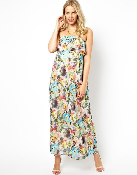 Orla Kiely Asos Maternity Exclusive Maxi Dress in Floral ...