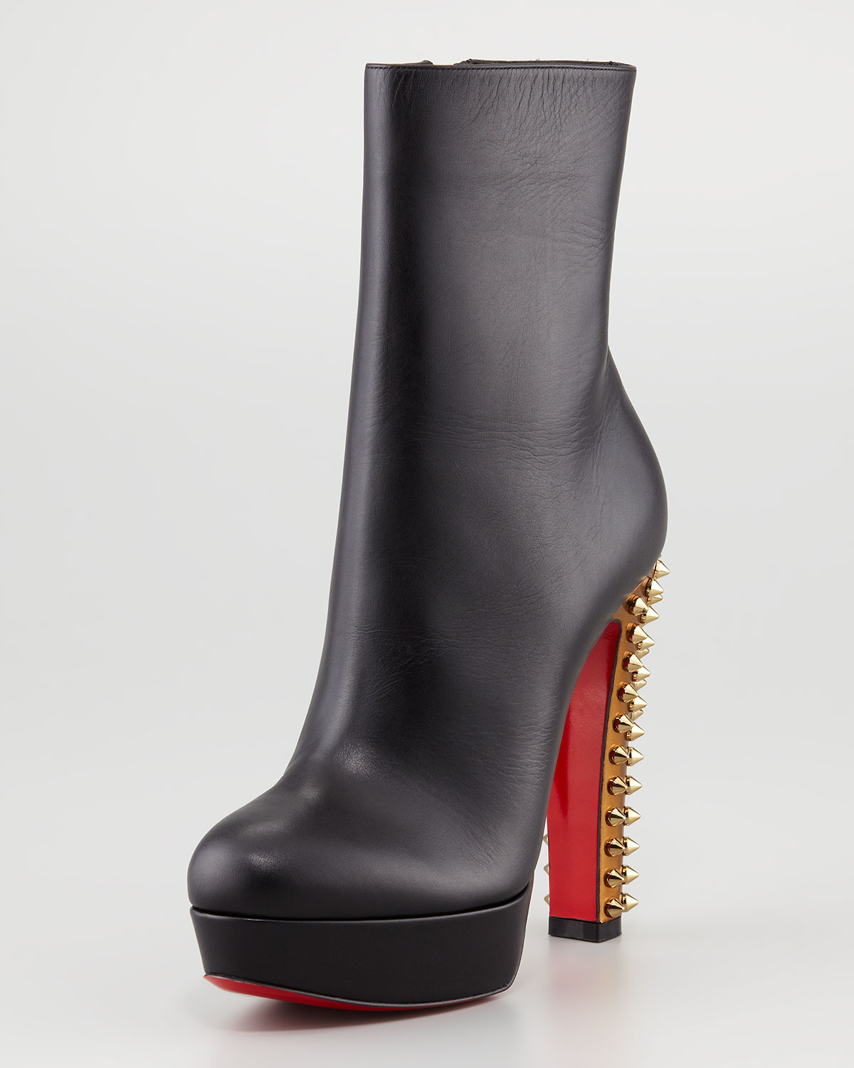 Lyst Christian Louboutin Taclou Spiked Heel Red Sole