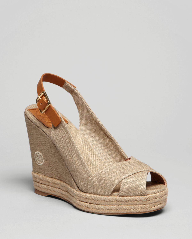 Peep Toe Platform Slingback Shoes