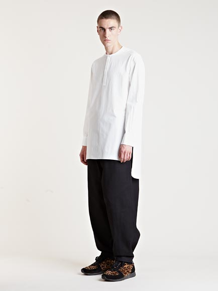 Yohji yamamoto Mens Wide Leg Pants in Black for Men | Lyst