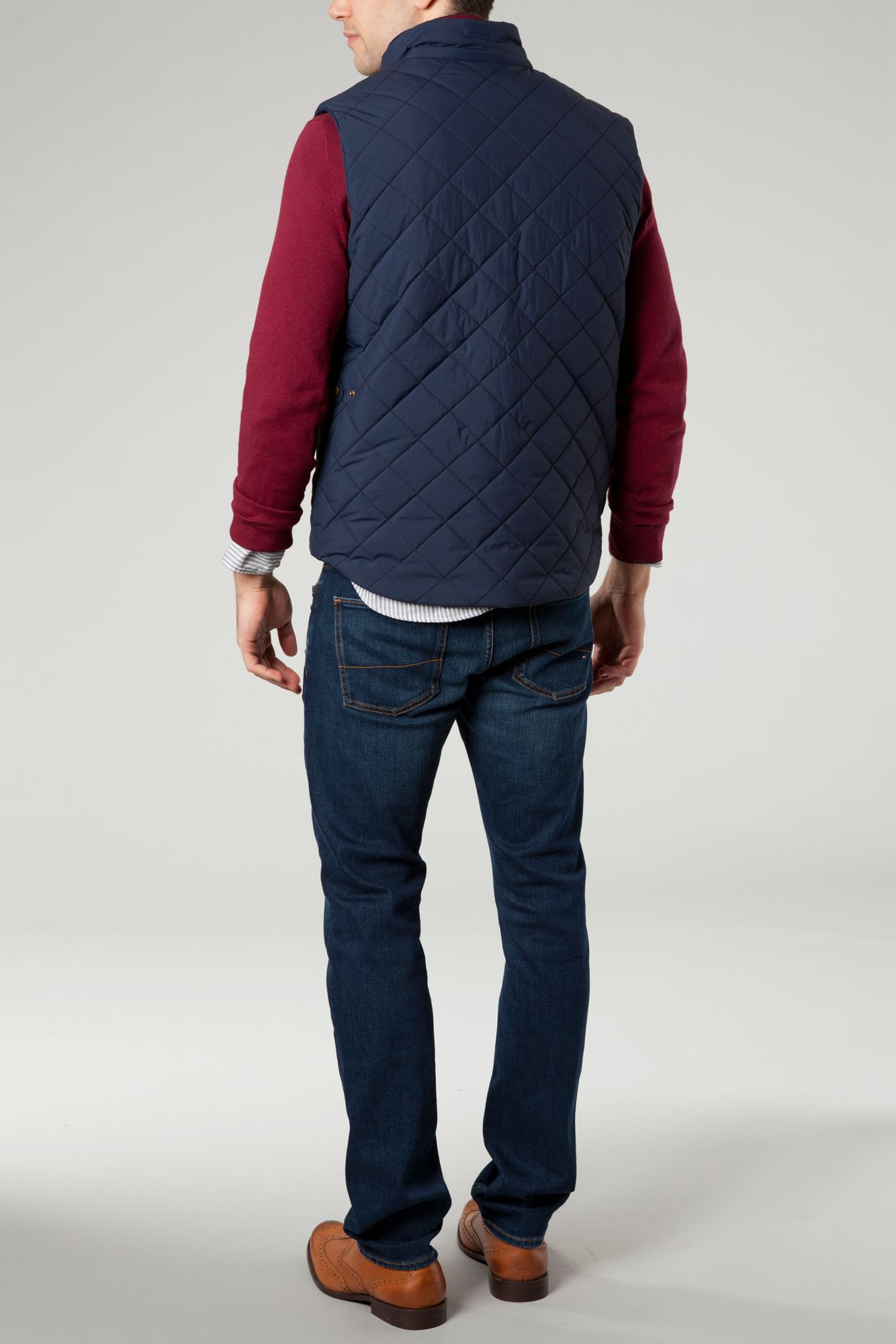 Lyst - Tommy hilfiger Quilted Browning Vest in Blue for Men : tommy hilfiger quilted vest - Adamdwight.com