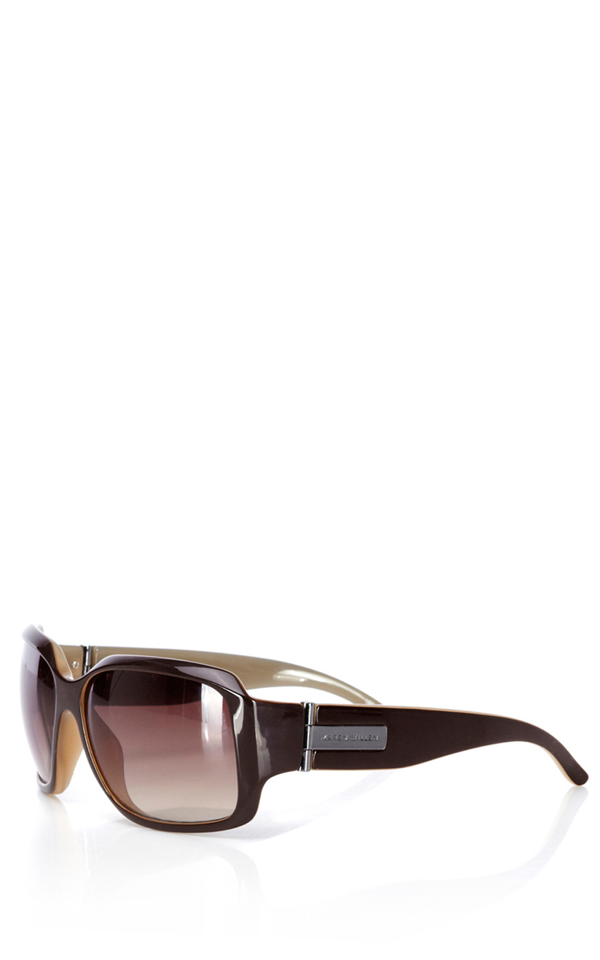f9c5a771121 Lyst - Karen Millen Square-frame Sunglasses in Brown