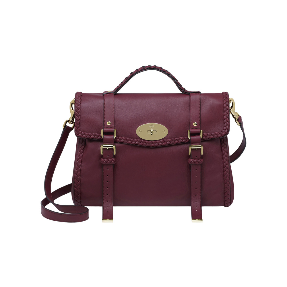 Mulberry Oversized Alexa with Woven Trim in Red | Lyst
