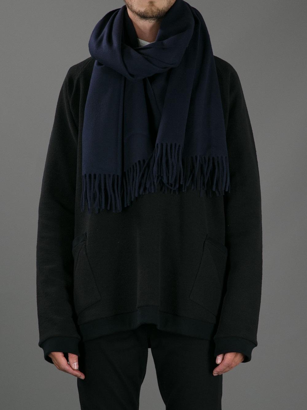 acne studios canada scarf in blue for lyst