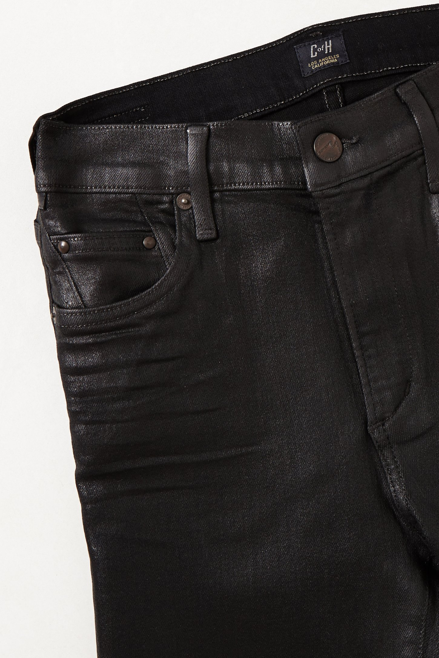 Citizens of humanity black coated jeans