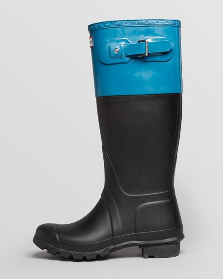 Hunter Rain Boots Original Rubber Colorblock in Blue (Blue ...