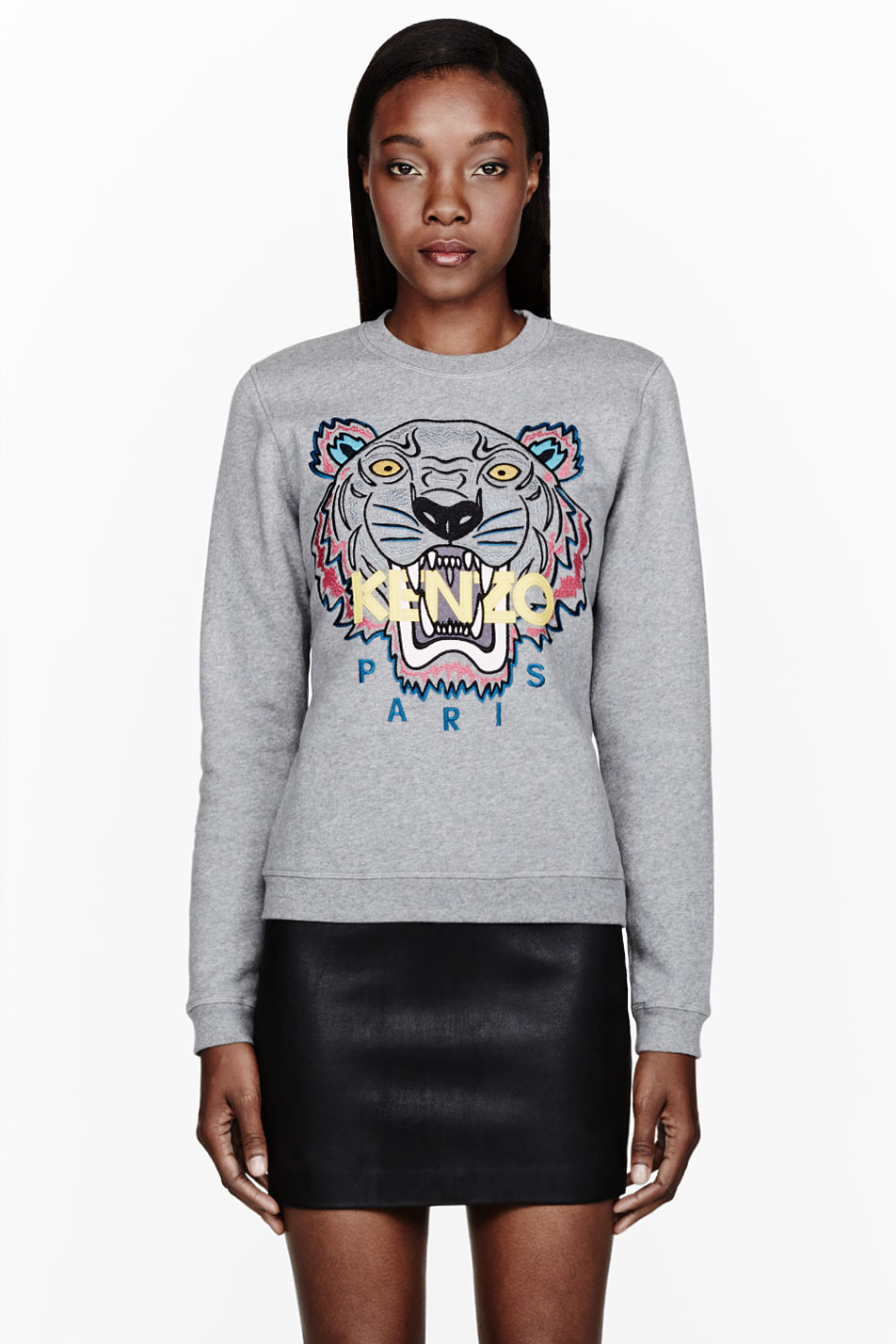 4102a2cf KENZO Heather Grey Tiger_embroidered Sweatshirt in Gray - Lyst