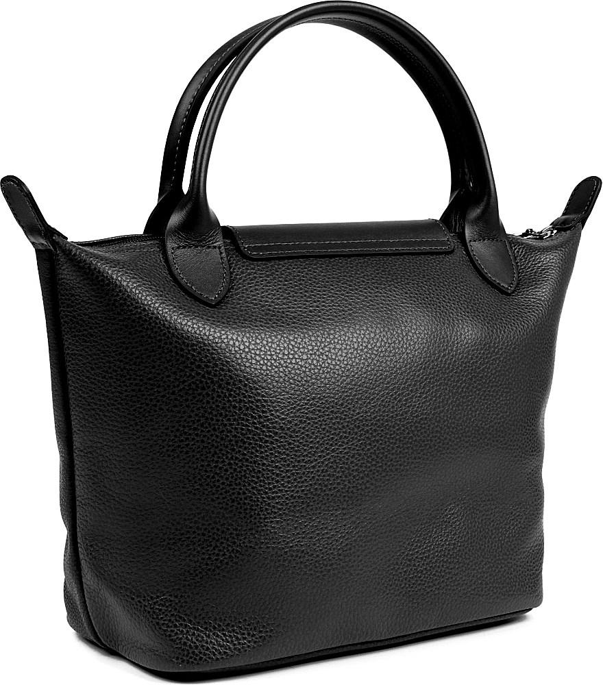 Longchamp Veau Foulonne Leather Handbag in Black - Lyst f7bab37218