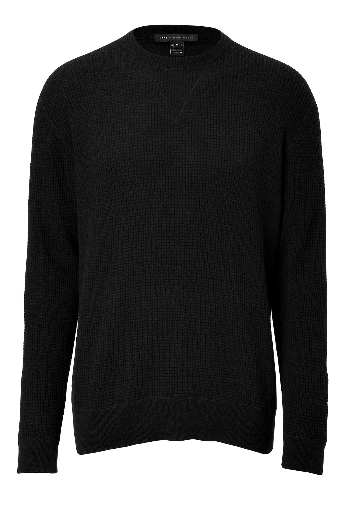 marc by marc jacobs wool fleece annarbor pullover in black in black for men lyst. Black Bedroom Furniture Sets. Home Design Ideas