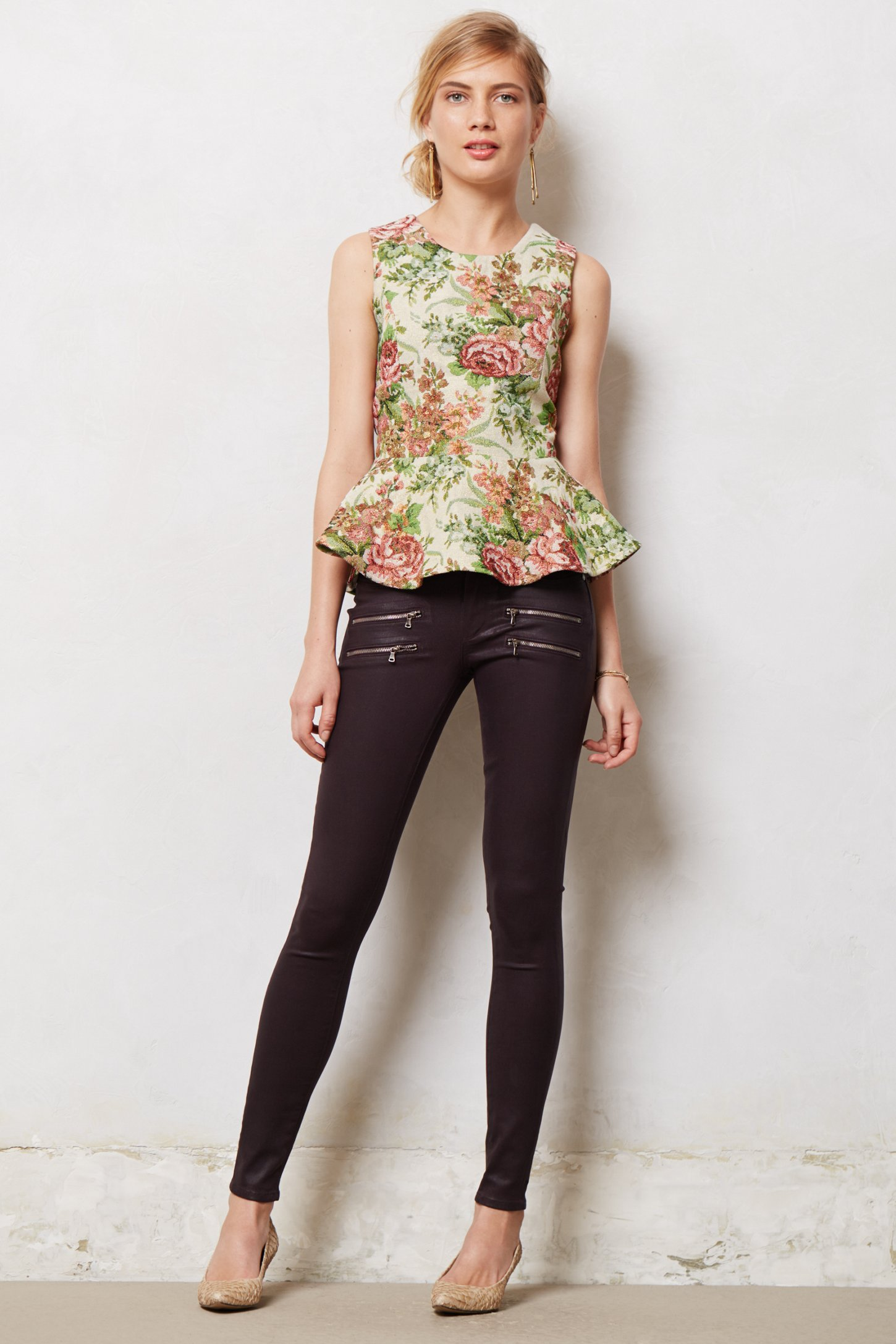 Lyst paige edgemont ultra skinny jeans in black for The edgemont