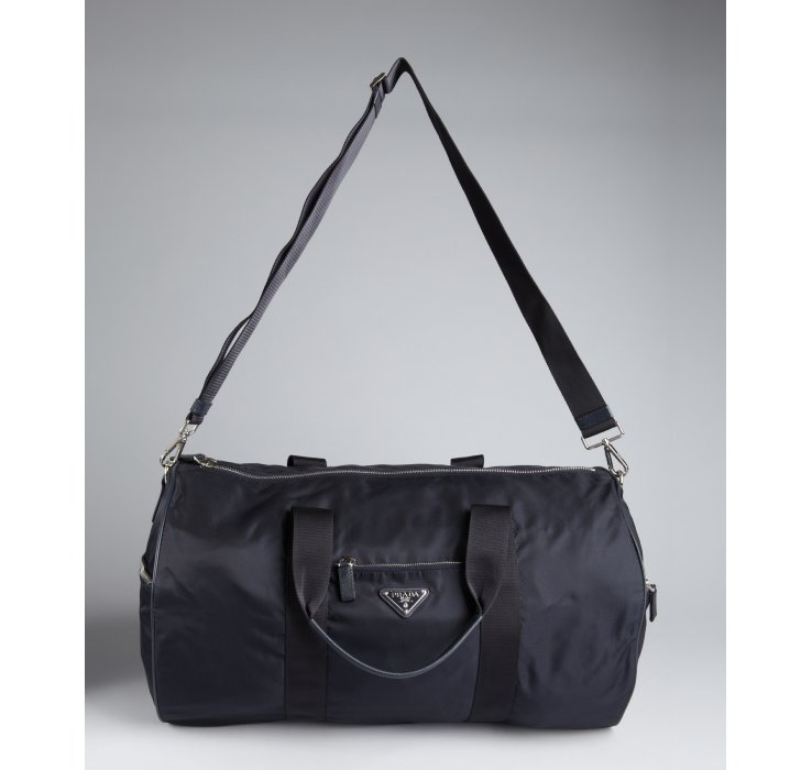 44872a1e6bbd ... sweden lyst prada navy nylon convertible duffel bag in blue for men  57827 e9faa
