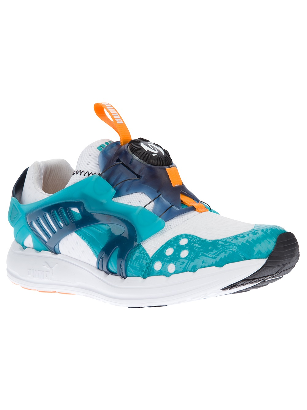 puma disc blaze lite tech sneaker in blue for men white. Black Bedroom Furniture Sets. Home Design Ideas