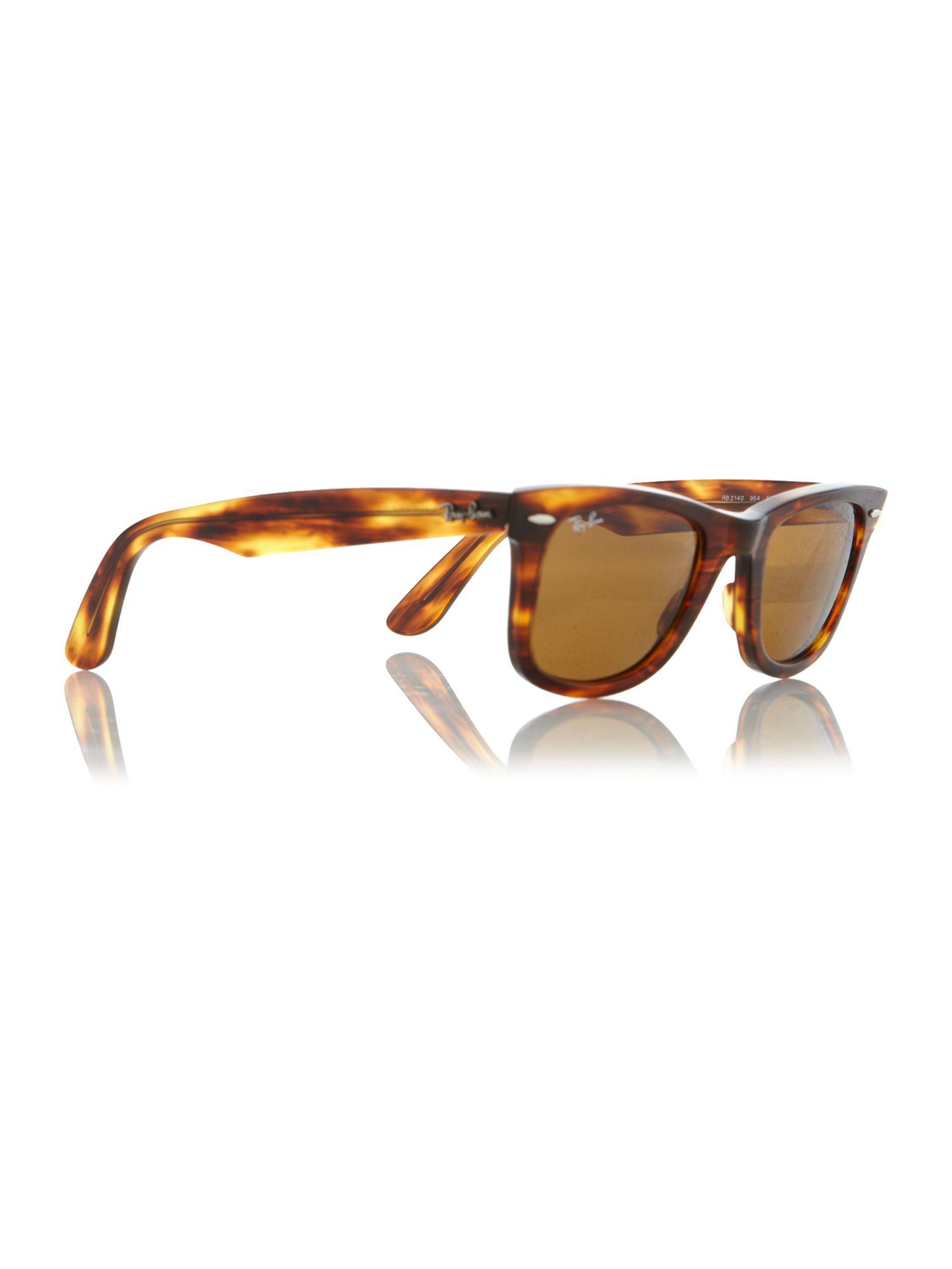 ban unisex rb2140 wayfarer sunglasses in brown for