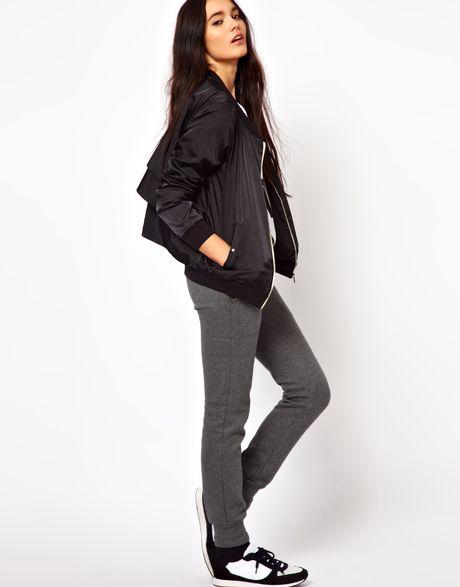 womens black adidas bomber jacket wroc awski informator. Black Bedroom Furniture Sets. Home Design Ideas