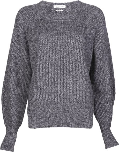 Etoile Isabel Marant Side Slit Barrett Sweater in Gray (grey) - Lyst