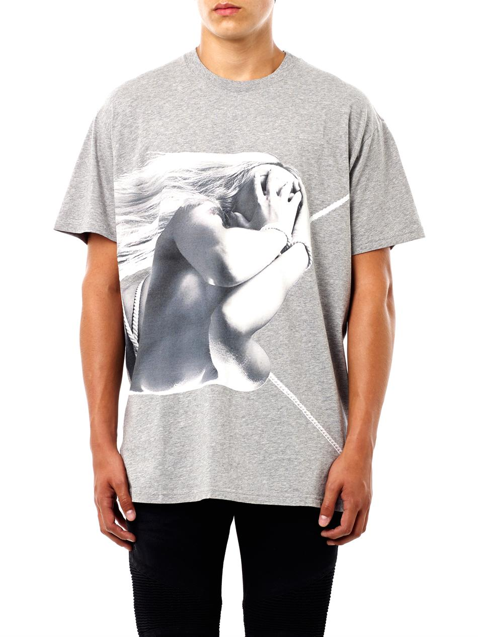 Lyst Givenchy Naked Lady Print T Shirt In Gray For Men
