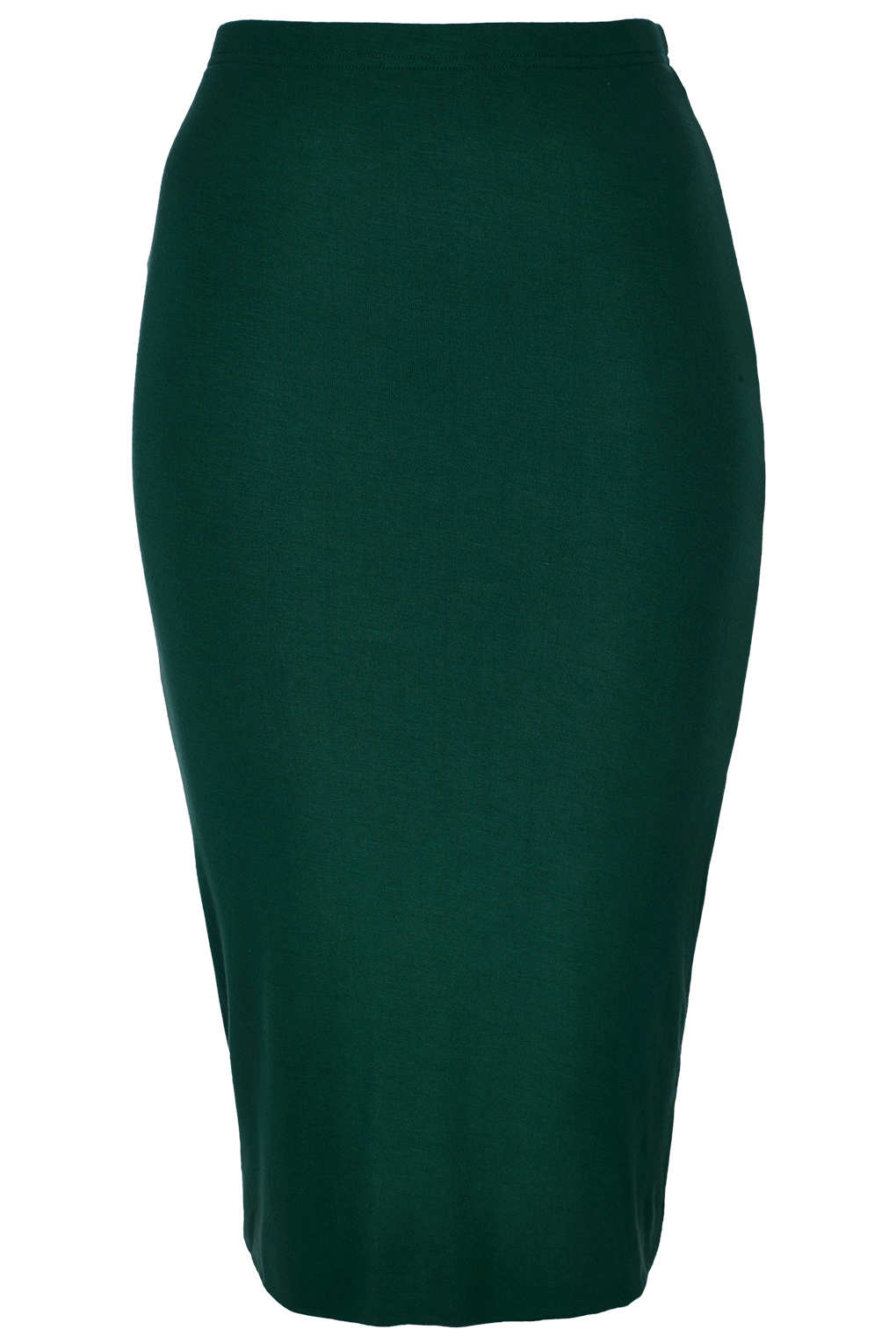 Topshop Dark Green Double Layer Tube Skirt in Green | Lyst