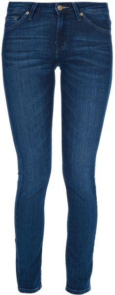 7 for all mankind cristen skinny jean in blue lyst. Black Bedroom Furniture Sets. Home Design Ideas