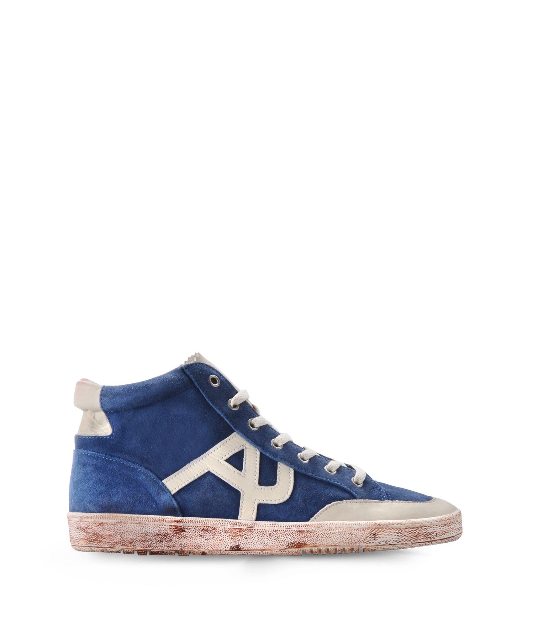 armani jeans hightop sneaker in blue for men lyst. Black Bedroom Furniture Sets. Home Design Ideas