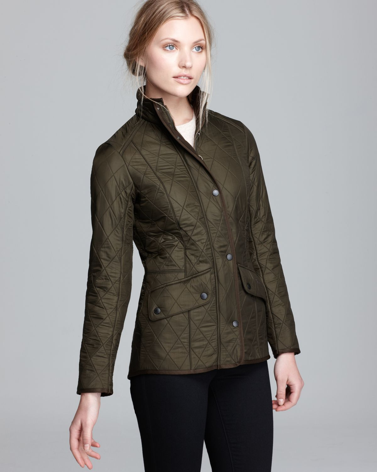 Lyst - Barbour Cavalry Polarquilt Jacket in Green : barbour polarquilt quilted jacket - Adamdwight.com