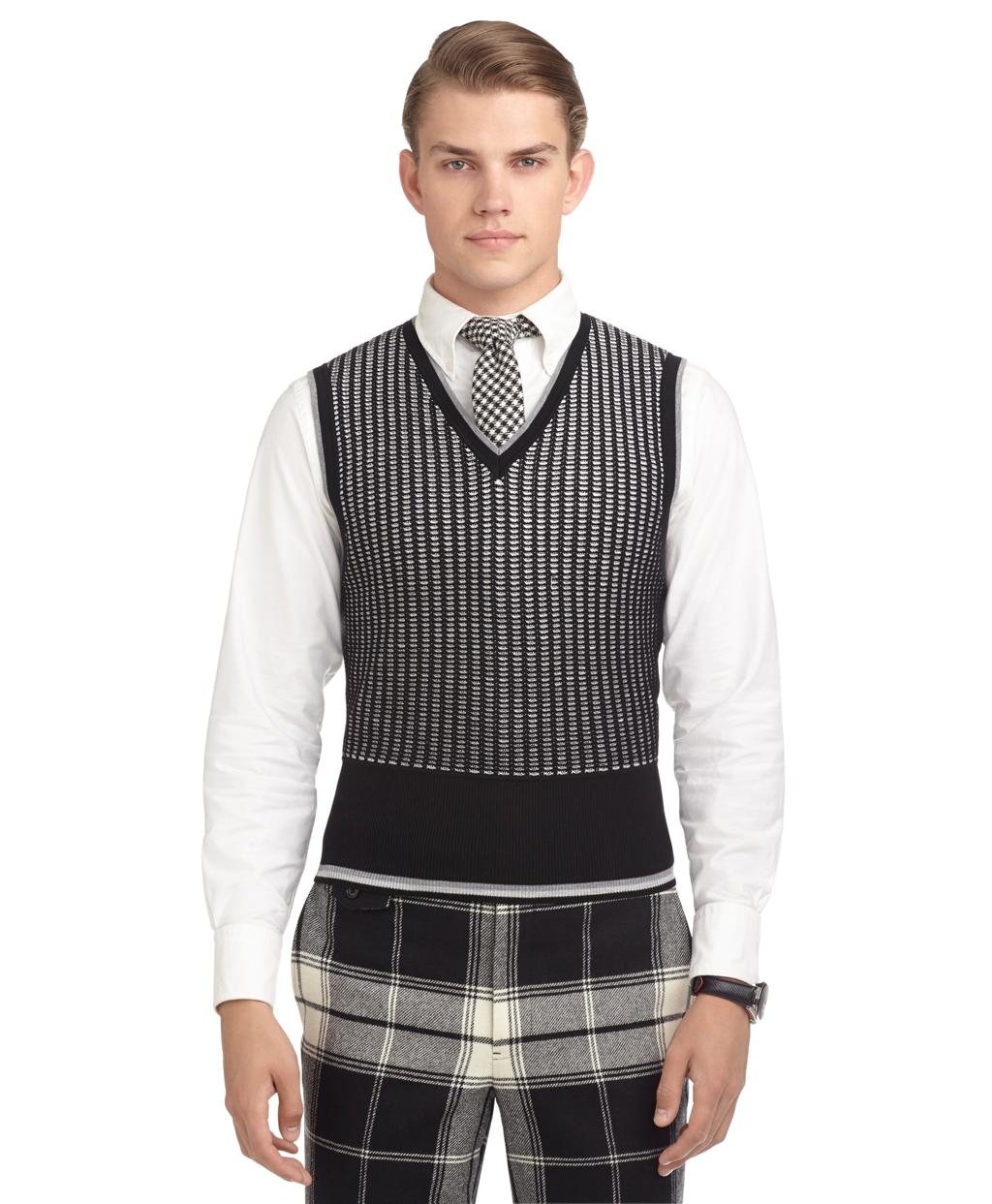Black Sweater Vest Men 86