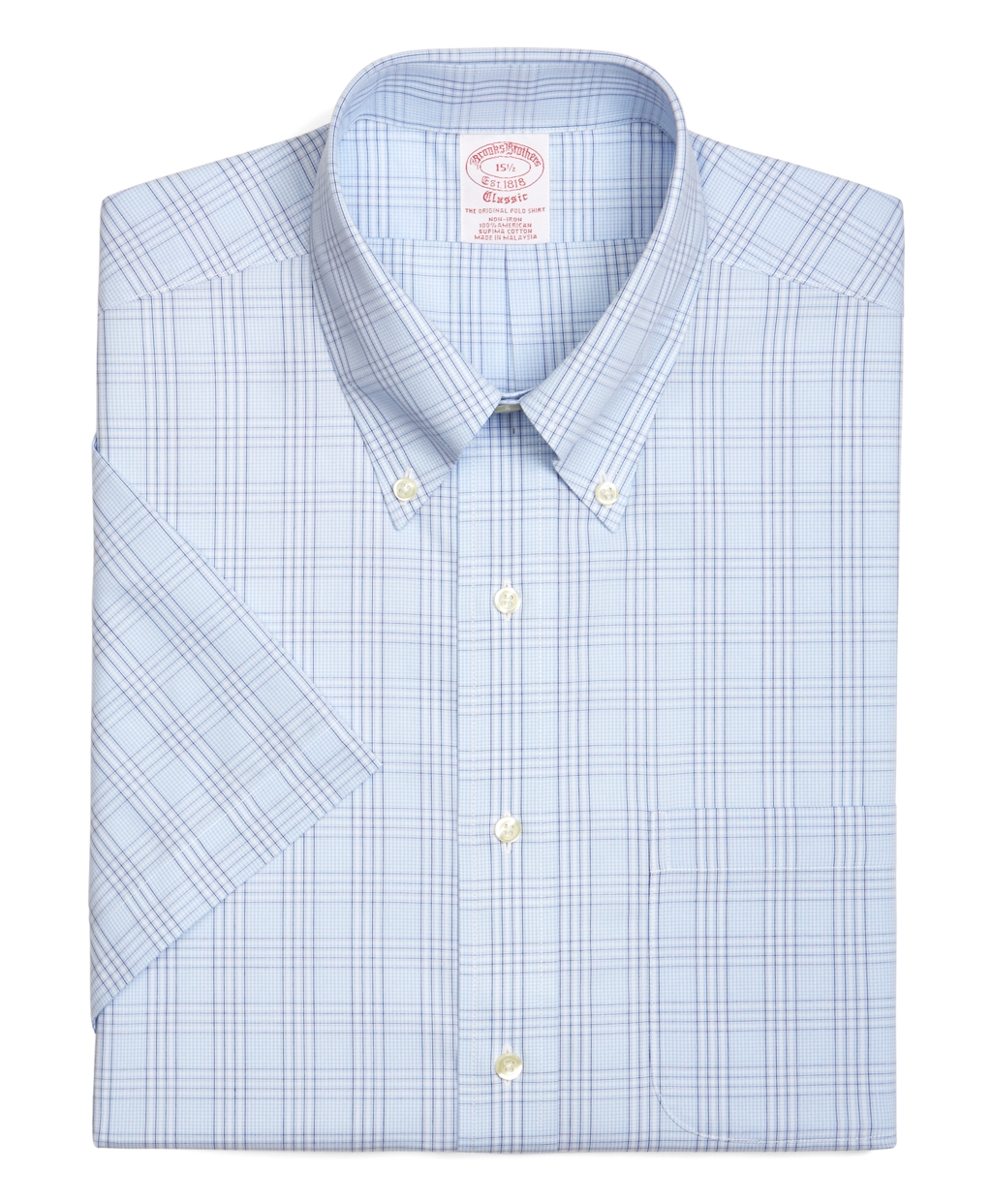 Brooks brothers traditional fit tonal glen plaid for Brooks brothers dress shirt fit guide