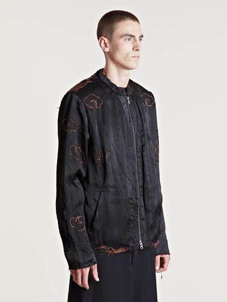 By Walid Mens Silk Fur Kimono Jacket In Black For Men Lyst