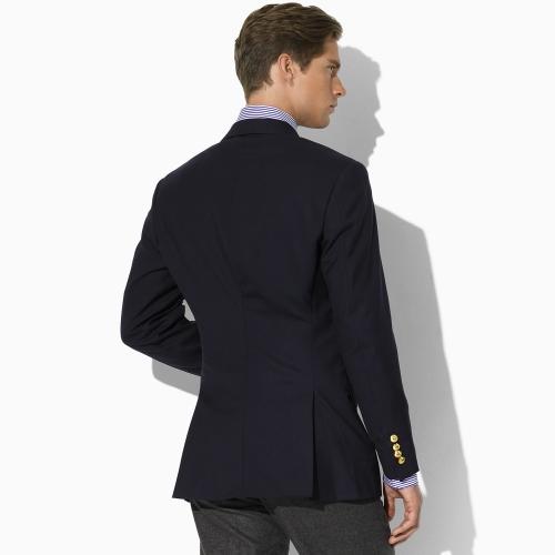 polo ralph lauren threebutton navy blazer in black for men lyst. Black Bedroom Furniture Sets. Home Design Ideas