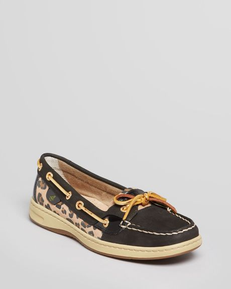 Womens Leopard Sperry Boat Shoes