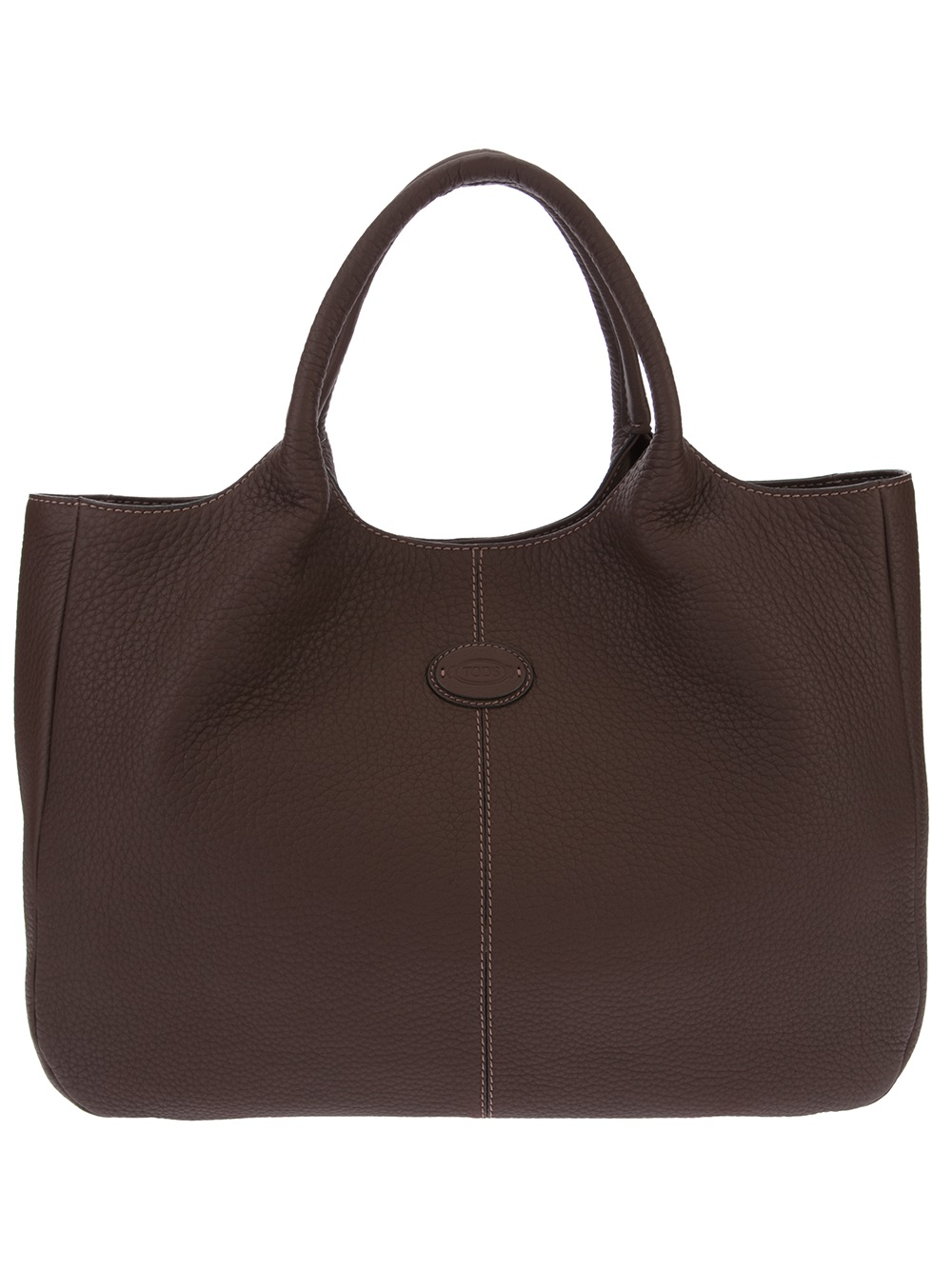 Tod S Large Rounded Tote In Brown Lyst