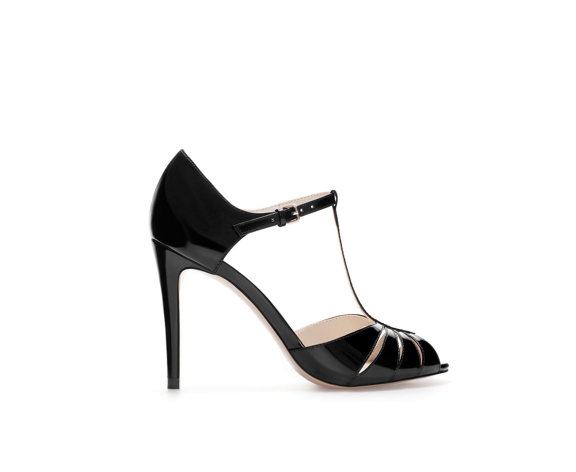 Shiny Black Heels   Tsaa Heel