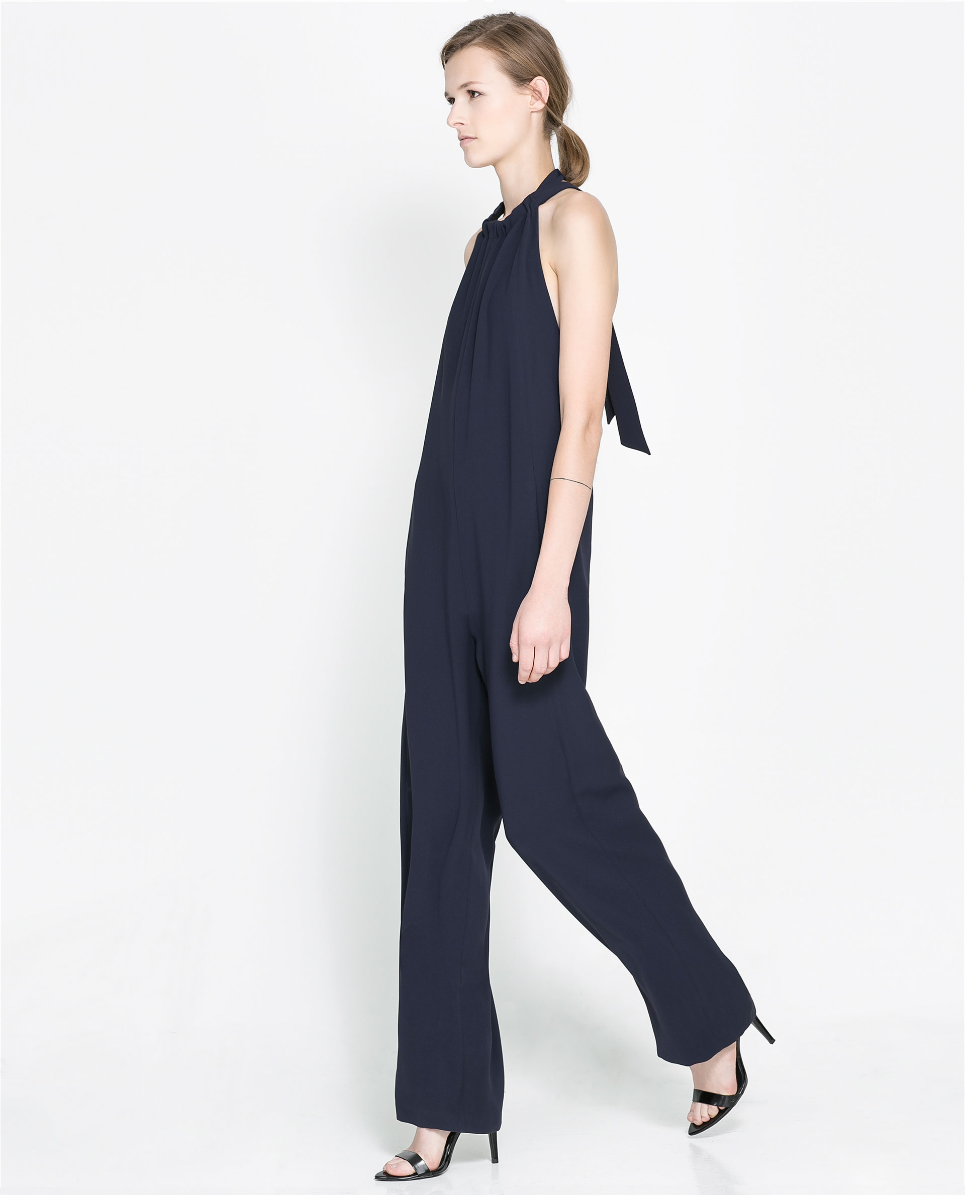 Amazing Zara Jumpsuit With Elasticated Waist In Black  Lyst