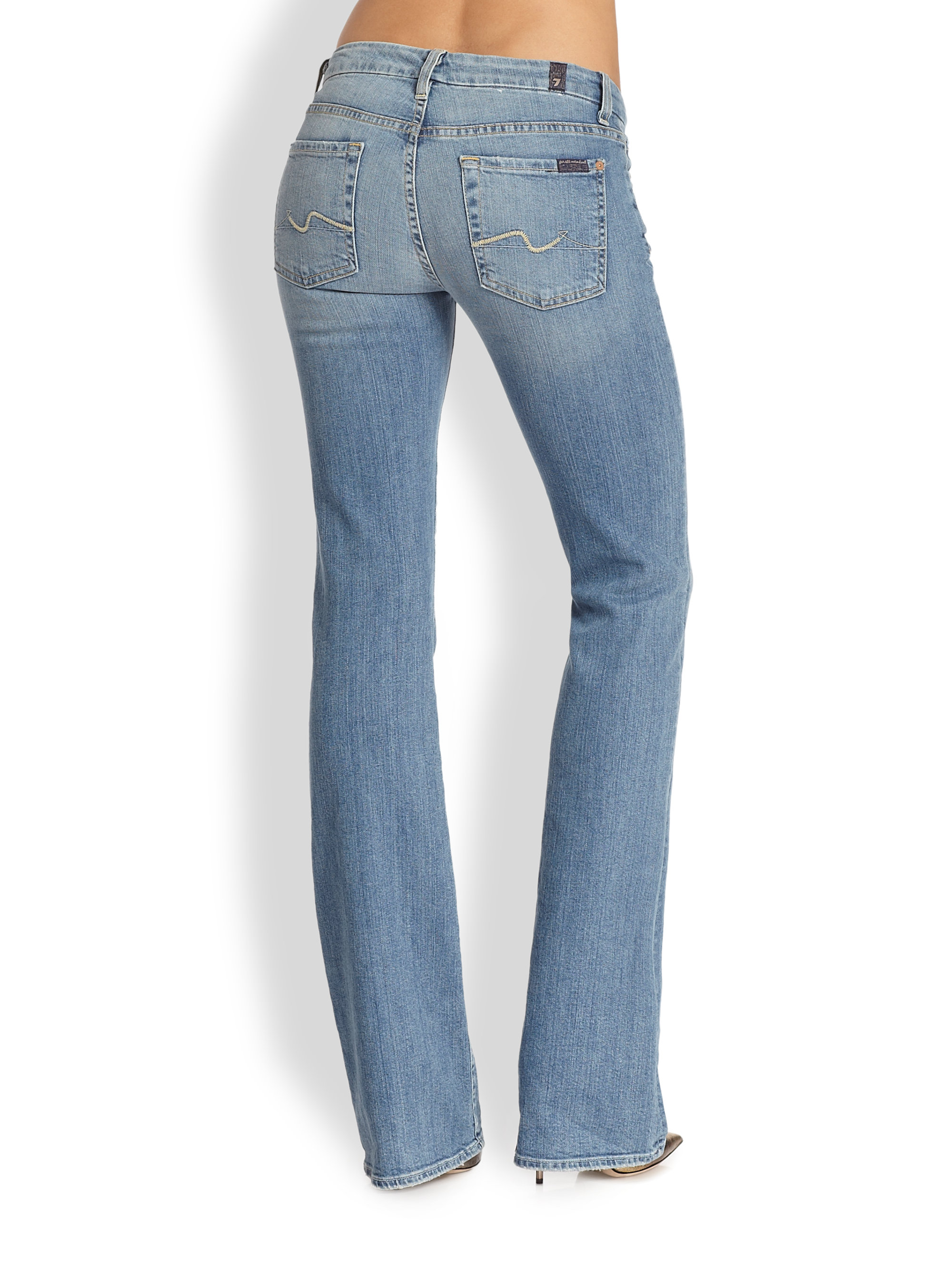 7 for all mankind Kimmie Bootcut Jean in Blue | Lyst