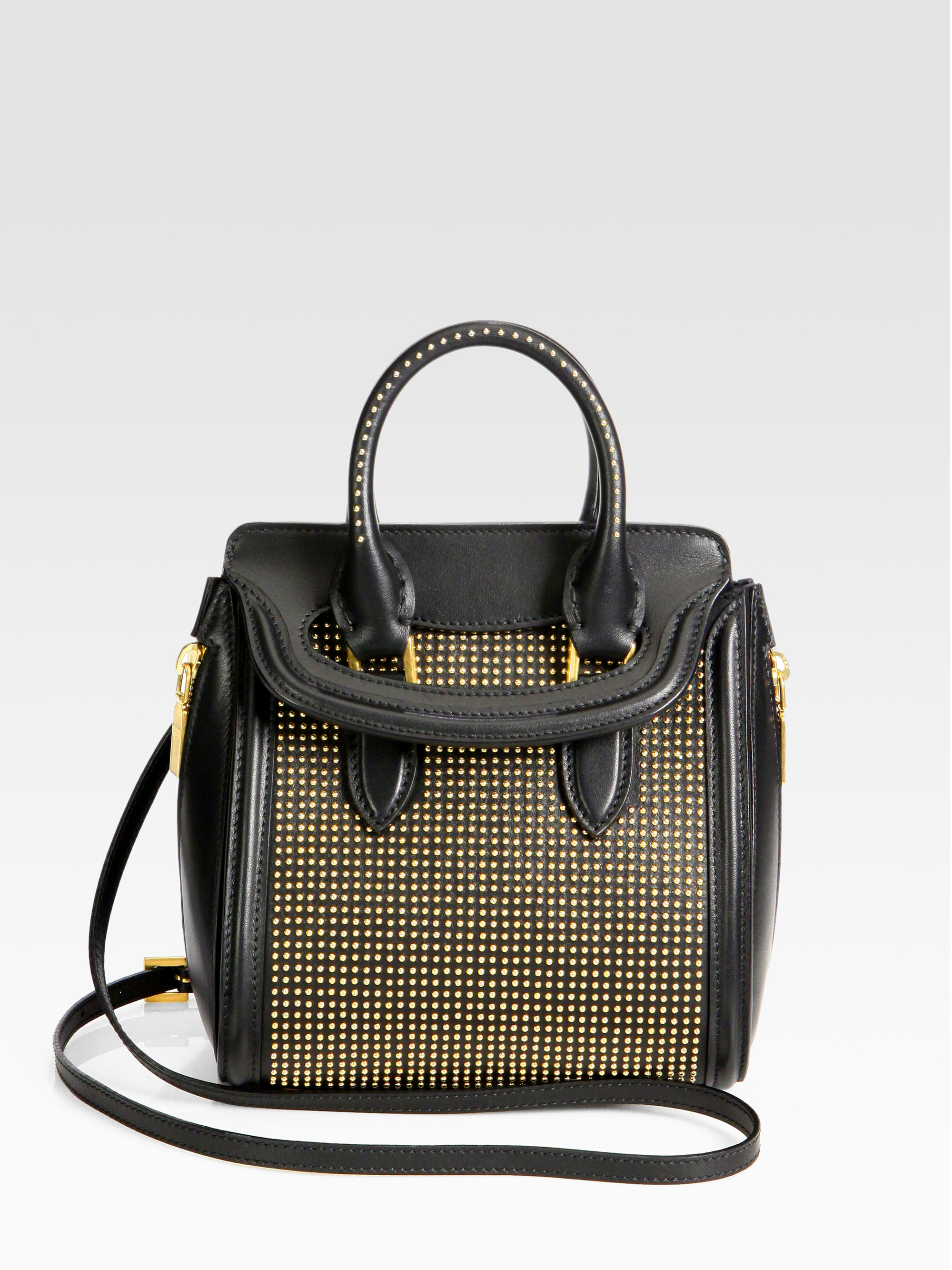 Alexander Mcqueen Heroine Mini Studded Crossbody Bag in ...