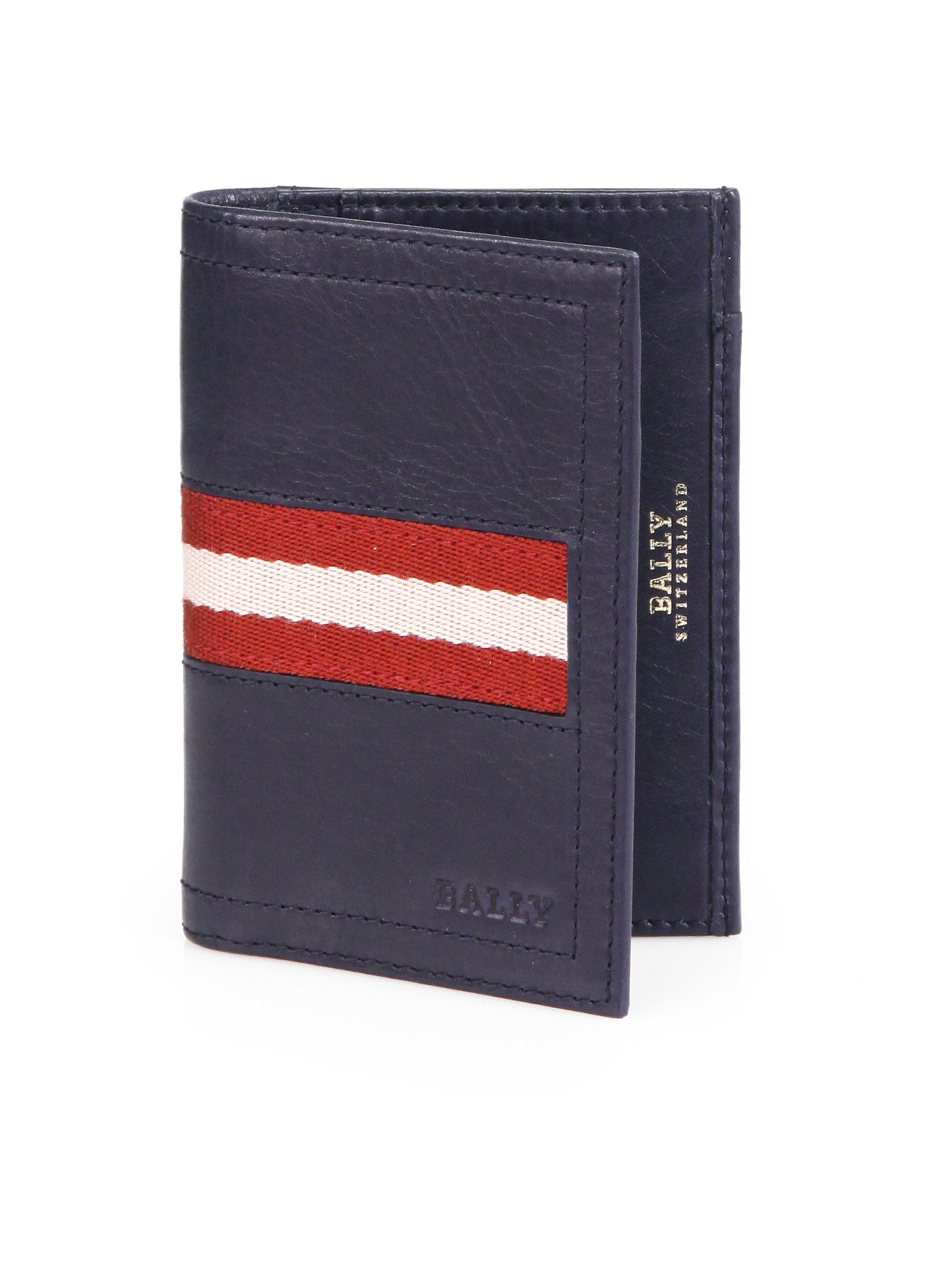Bally Striped Business Card Holder in Blue for Men : Lyst