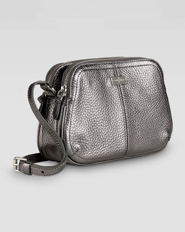 Lyst - Cole Haan Village Double Zip Crossbody Bag Silver in Metallic