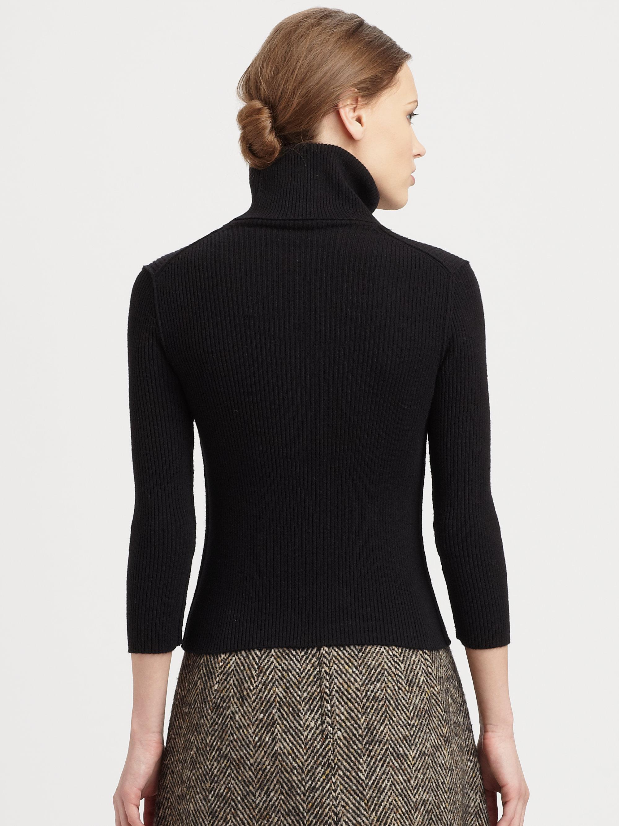 Lyst Dolce Amp Gabbana Ribbed Cashmere Turtleneck In Black