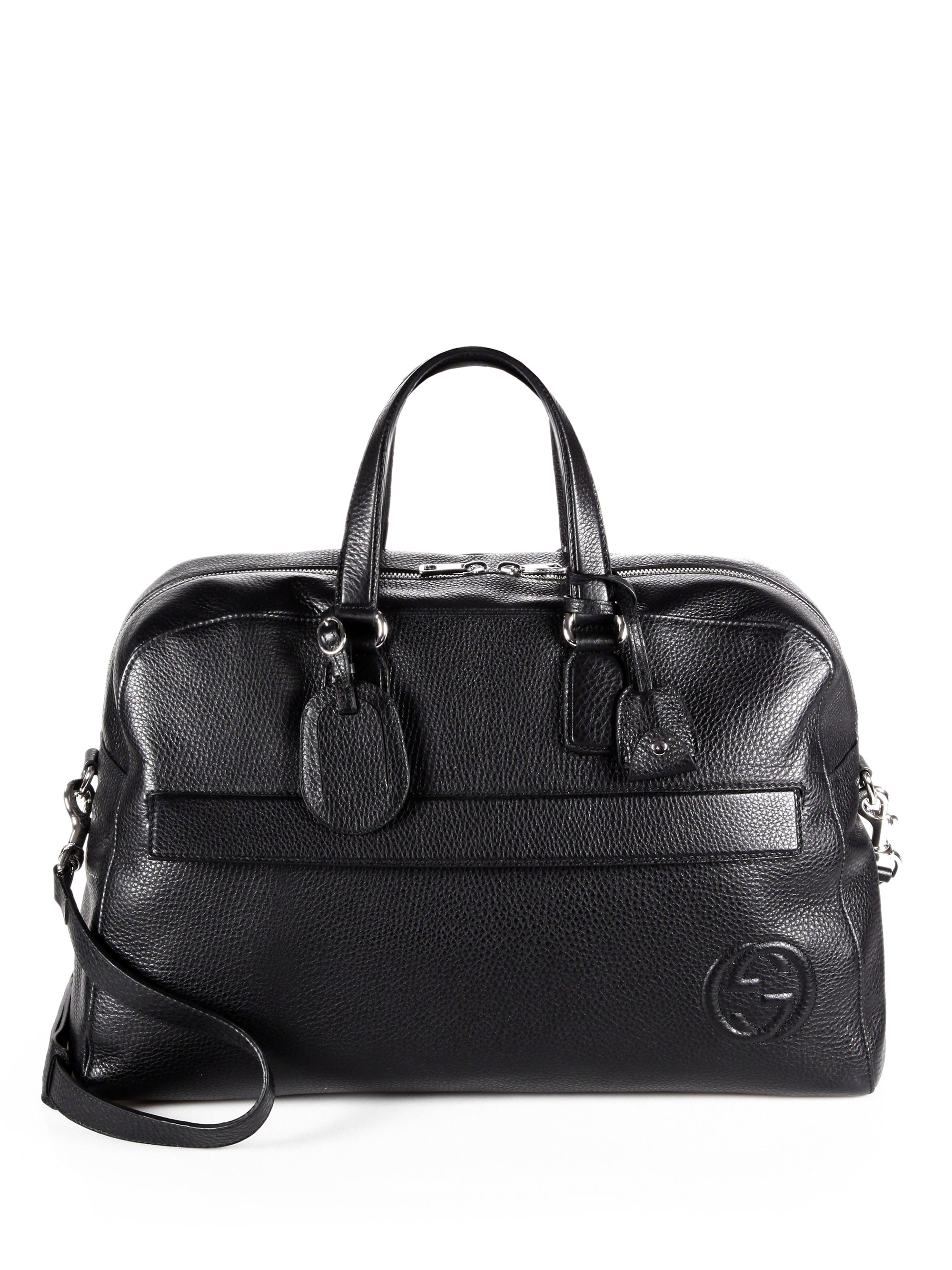 9cca729b75ecf5 Gucci Soho Leather Duffel Bag in Black for Men - Lyst